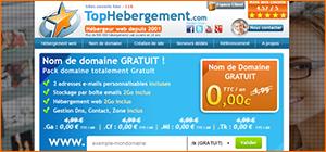 Fournisseur de nom domaine gratuit TopHebergement