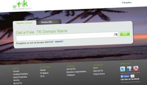 Domaine gratuit tk - Tokelau paradis
